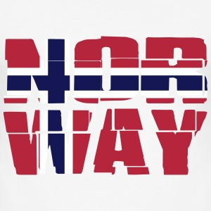 Norway Flag T-shirts - Herre Slim Fit T-Shirt