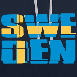 Sweden Flag Sweat-shirts - Sweat-shirt contraste