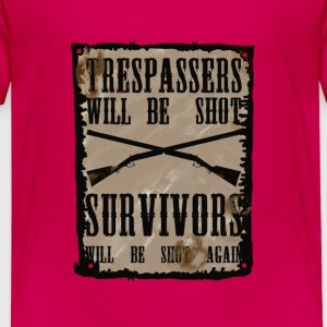 Trespasser will be Shot Shirts - Kids' Premium T-Shirt