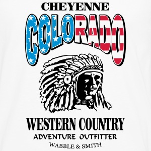 Colorado Indian Chief Shirt Design Långärmade T-shirts - Långärmad premium-T-shirt herr