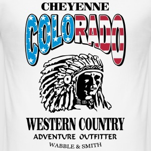 Colorado Indian Chief Shirt Design Magliette - Maglietta aderente da uomo