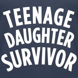 TEENAGE DAUGHTER SURVIVOR Tops - Women's Premium Tank Top