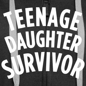 TEENAGE DAUGHTER SURVIVOR Pullover & Hoodies - Frauen Premium Kapuzenjacke