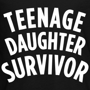 TEENAGE DAUGHTER SURVIVOR Long Sleeve Shirts - Teenagers' Premium Longsleeve Shirt