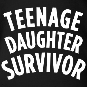 TEENAGE DAUGHTER SURVIVOR Shirts - Organic Short-sleeved Baby Bodysuit