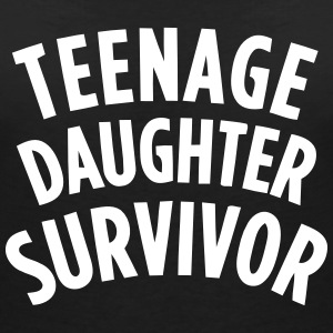TEENAGE DAUGHTER SURVIVOR Tee shirts - T-shirt col V Femme