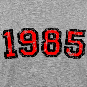 Year 1985 Birthday Design Vintage Red (EU) T-Shirts - Men's Premium T-Shirt