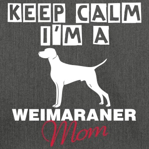 keep calm i'm a weimaraner Mom Borse & zaini - Borsa in materiale riciclato