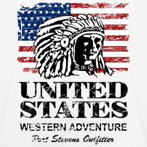USA Flag - Indian Chief - Vintage Look T-shirts - Andningsaktiv T-shirt herr