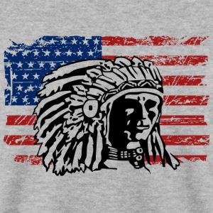 USA Flag - Indian Chief - Vintage Look Hoodies & Sweatshirts - Men's Sweatshirt