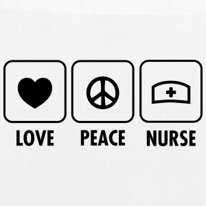Love, Peace, Nurse Bags & Backpacks - EarthPositive Tote Bag
