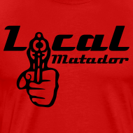 Motiv ~ 'LOCAL MATADOR' - T-Shirt rot-schwarz
