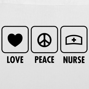 Love, Peace, Nurse Bags & Backpacks - Tote Bag