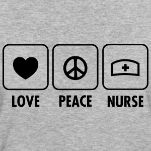 Love, Peace, Nurse T-shirts - Ekologisk T-shirt dam