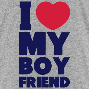 I LOVE MY BOYFRIEND T-shirts - Teenager premium T-shirt