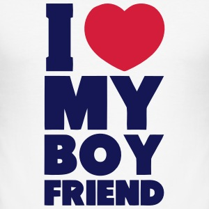 I LOVE MY BOYFRIEND T-shirts - Slim Fit T-shirt herr