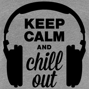 Hörlurar keep calm and chill out T-shirts - Premium-T-shirt dam