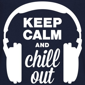 Altoparlante keep calm and chill out Magliette - Maglietta da uomo con scollo a V