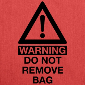 WARNING DO NOT REMOVE BAG Bags & Backpacks - Shoulder Bag made from recycled material