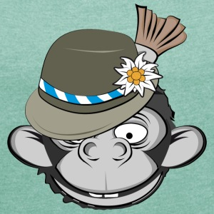 Oktoberfest Monkey T-Shirts - Women's T-shirt with rolled up sleeves