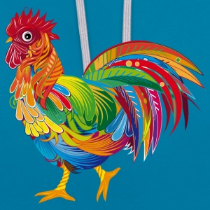 An ornately decorated rooster Hoodies & Sweatshirts - Contrast Colour Hoodie