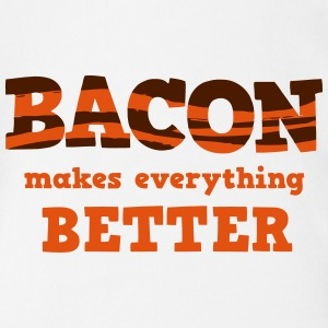 BACON makes everything better! Shirts - Organic Short-sleeved Baby Bodysuit