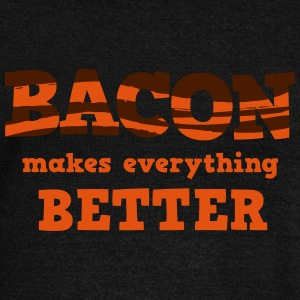 BACON makes everything better! Hoodies & Sweatshirts - Women's Boat Neck Long Sleeve Top