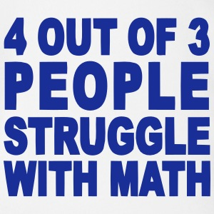 4 out of 3 hate math Shirts - Baby bio-rompertje met korte mouwen