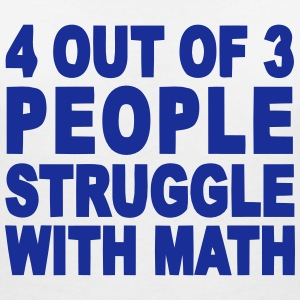 4 out of 3 hate math Magliette - Maglietta da donna scollo a V