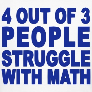 4 out of 3 hate math T-Shirts - Men's Organic T-shirt