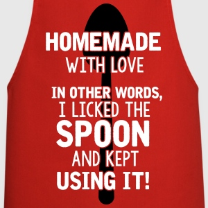 I licked the spoon with love - Cooking quote  Aprons - Cooking Apron