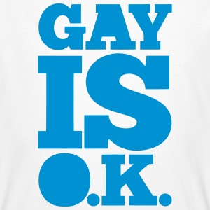 GAY IS OK - SCHWUL IS OK T-shirts - Organic mænd
