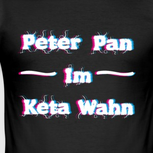 Peter Pan im Keta Wahn T-Shirts - Männer Slim Fit T-Shirt