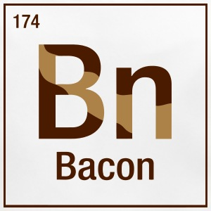 Bacon periodic table Accessories - Baby Organic Bib