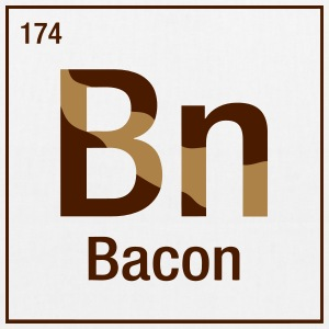Bacon periodic table Bags & Backpacks - EarthPositive Tote Bag