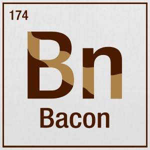Bacon periodic table Bags & Backpacks - Tote Bag