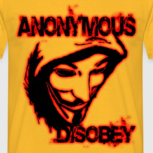 anonymous disobey Tee shirts - T-shirt Homme