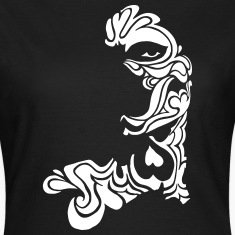 Tattoo Art Tribal Face with Hearts T-Shirts