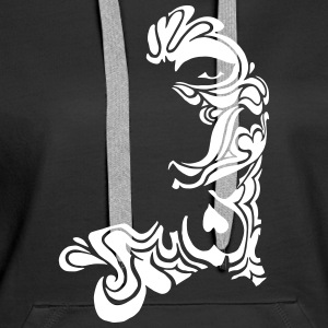 Tattoo Face Art Tribal with Hearts Pullover & Hoodies - Frauen Premium Hoodie