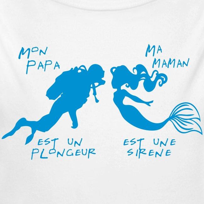 Papa plongeur Maman sirène - Enf - Imp num