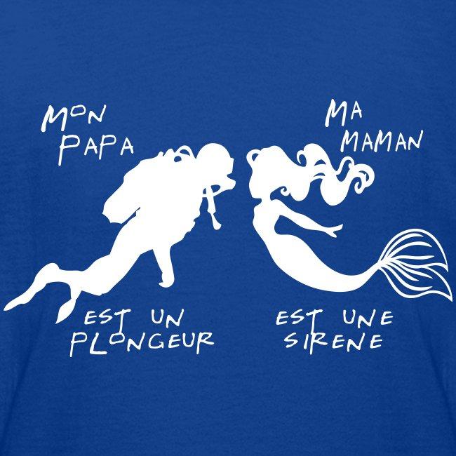 Papa plongeur Maman sirène + logo - Ado - Imp Digitale