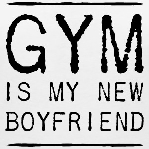 THE GYM IS MY NEW FRIEND T-Shirts - Women's V-Neck T-Shirt