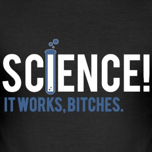 SCIENCE BITCHES T-shirts - Slim Fit T-shirt herr