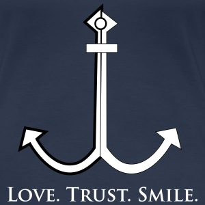 Love Trust Smile T-Shirts - Frauen Premium T-Shirt