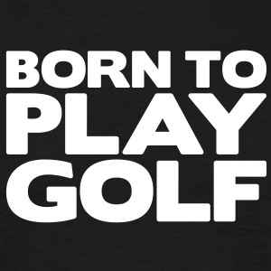 born to play pool - Men's T-Shirt