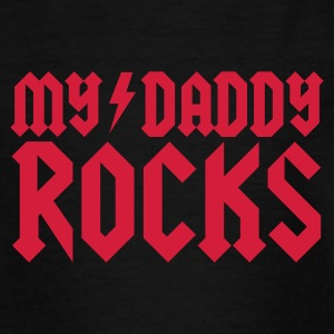 My daddy rocks Skjorter - T-skjorte for barn