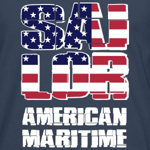 USA Maritime Sailor Long sleeve shirts - Men's Premium Longsleeve Shirt