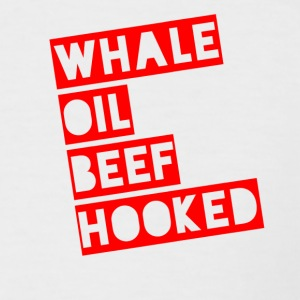 Whale Oil Beef Hooked! - Men's Baseball T-Shirt