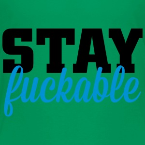 stay fuckable T-shirts - Premium-T-shirt tonåring
