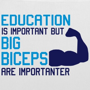 BIG BICEPS ARE IMPORTANTER Bags & Backpacks - Tote Bag